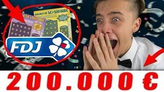 OMG ! J'AI GAGNER 200 000€ ! | TICKET À GRATTER CHALLENGE + J'APPEL FDJ