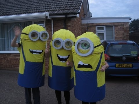 How do you make a Minion costume? Minions Movie/Despicable Me Halloween fancy dress costume DIY