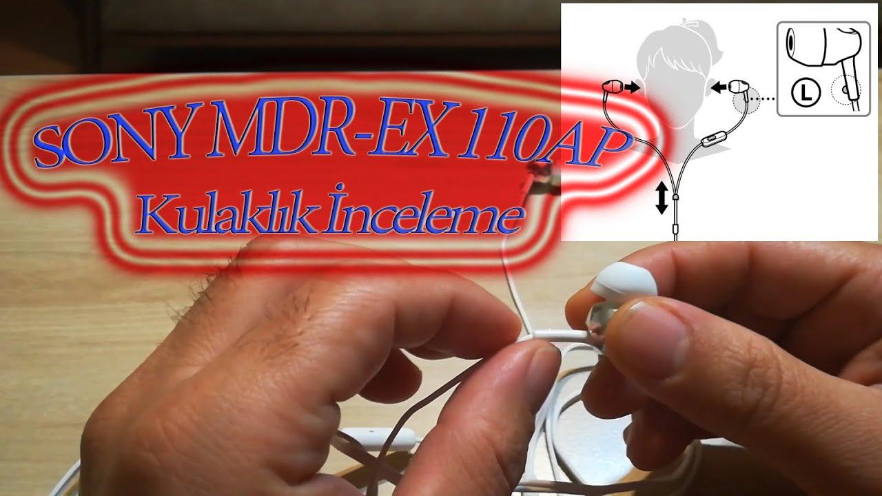 Kablolu Kulaklık İnceleme ve Testleri - Sony MDR-EX110AP