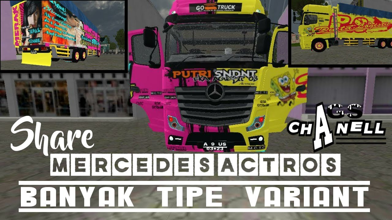 Share Mod Bussid Mercedes Actros Livery Free Download Link Di