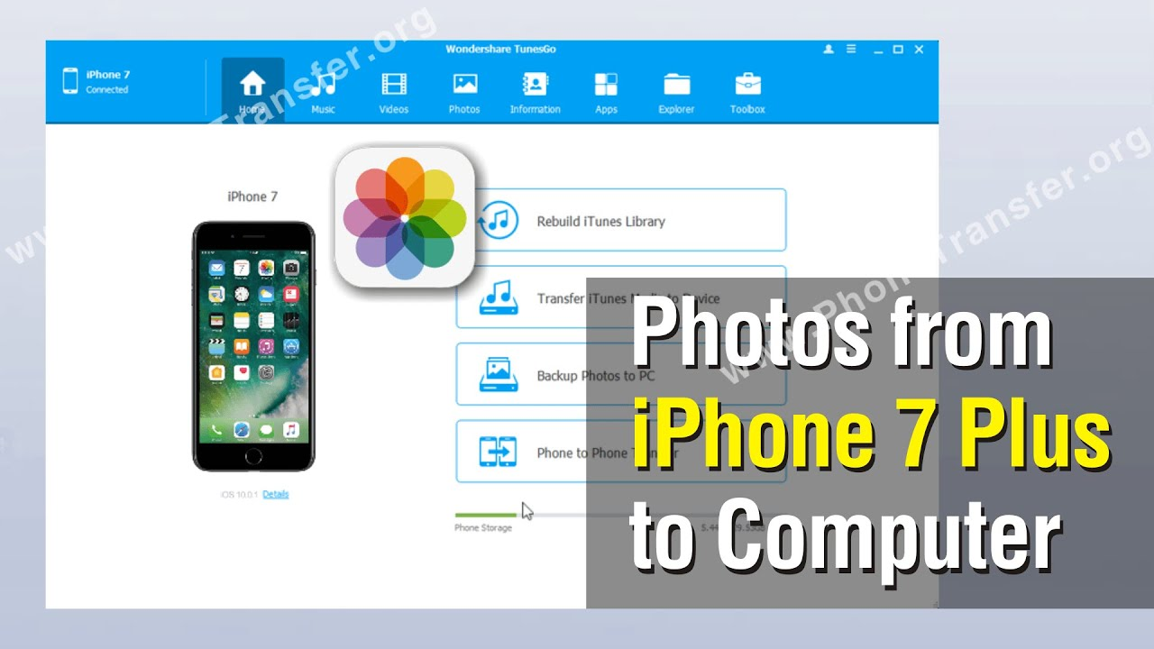 how to backup photos from iphone 7 plus to computer