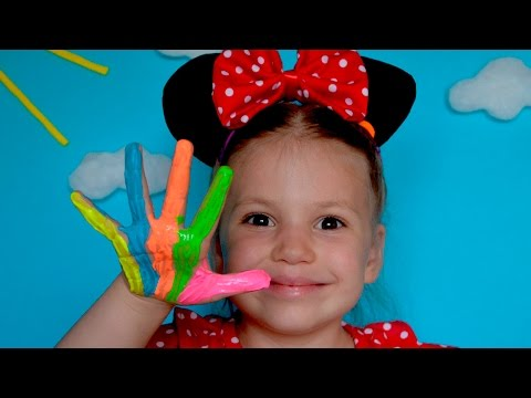 Thumbnail: Learn Colors Finger Family Song Minnie Mouse Frozen Elsa Learn Colours Nursery Rhymes