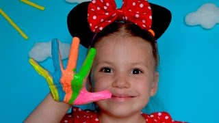 Learn Colors Finger Family Song Minnie Mouse Frozen Elsa Learn Colours Nursery Rhymes