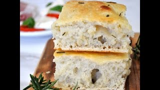 Homemade Italian Rosemary Focaccia Bread By Cooking With Manuela