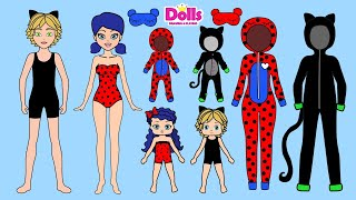🐞👨‍👩‍👧‍👦FAMILY PAPER DOLLS NEW QUIET BOOK DOLLHOUSE DRESS UP