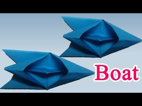 How to make a paper speed boat (Origami Boat)