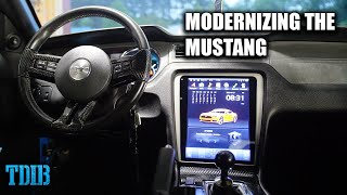 homepage tile video photo for Installing a TESLA SCREEN In My Mustang GT! Modernizing the Mustang
