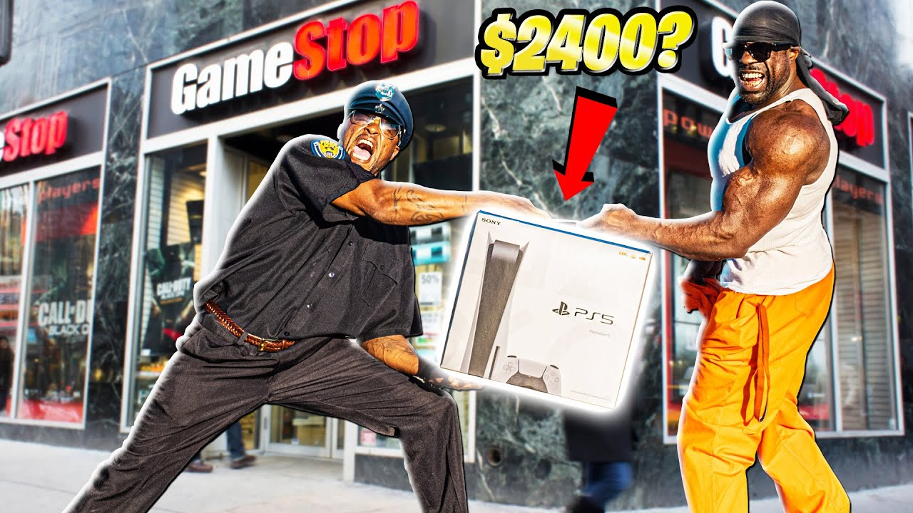 THUG SELLS PLAYSTATION 5 TO GAMESTOP (PRANK)