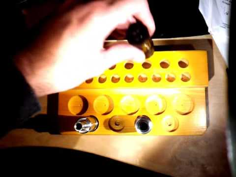Practical 25 Holes E - Cigarette Wooden Display Stand  -  ORANGE