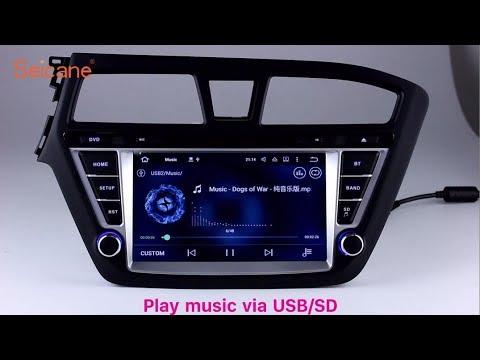 Aftermarket Sat Nav 2014 2015 Hyundai i20 Autoradio Bluetooth Stereo  Upgrade with GPS 1080P