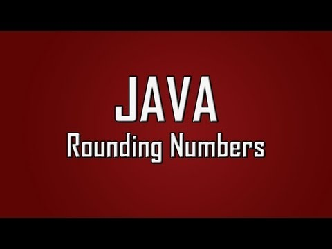 Learn Java - #21 - Rounding Numbers