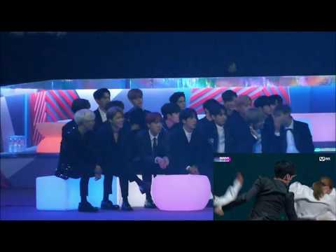 MAMA 2017 - BTS and Wanna One react to TAEMIN MOVE