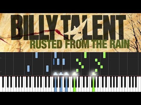 Billy Talent - Rusted From The Rain Piano Tutorial [Synthesia]
