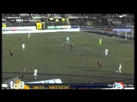 Azione spettacolare del Pescara di Zeman in Nocerina - Pescara 2-4