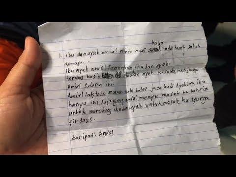Tragedi Tahfiz Darul Ittifaqiyah - Surat terakhir untuk ayah ibu