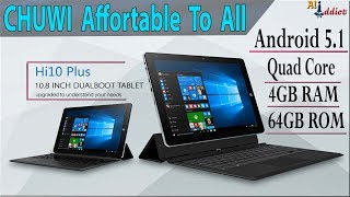 CHUWI Hi10 Plus Tablet PC Review - Windows 10 & Android 5.1 Both / AliAddict