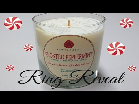 JewelScent Ring Reveal - Frosted Peppermint Candle!