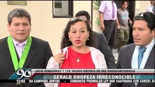 Gerald Oropeza reapareció con nueva apariencia en videoconferencia
