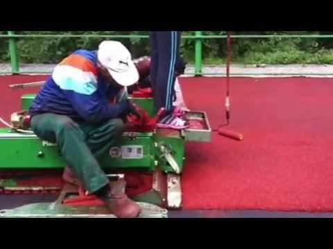 """Испытание резинового покрытия """"Экопол"""".из YouTube · Длительность: 1 мин41 с"""