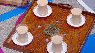 ديما حجاوي تحضر الشاي بالحليب مع الزنجبيل والهيل