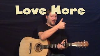 Love More (Chris Brown) Easy Guitar Lesson How to Play Tutorial with Licks in TAB