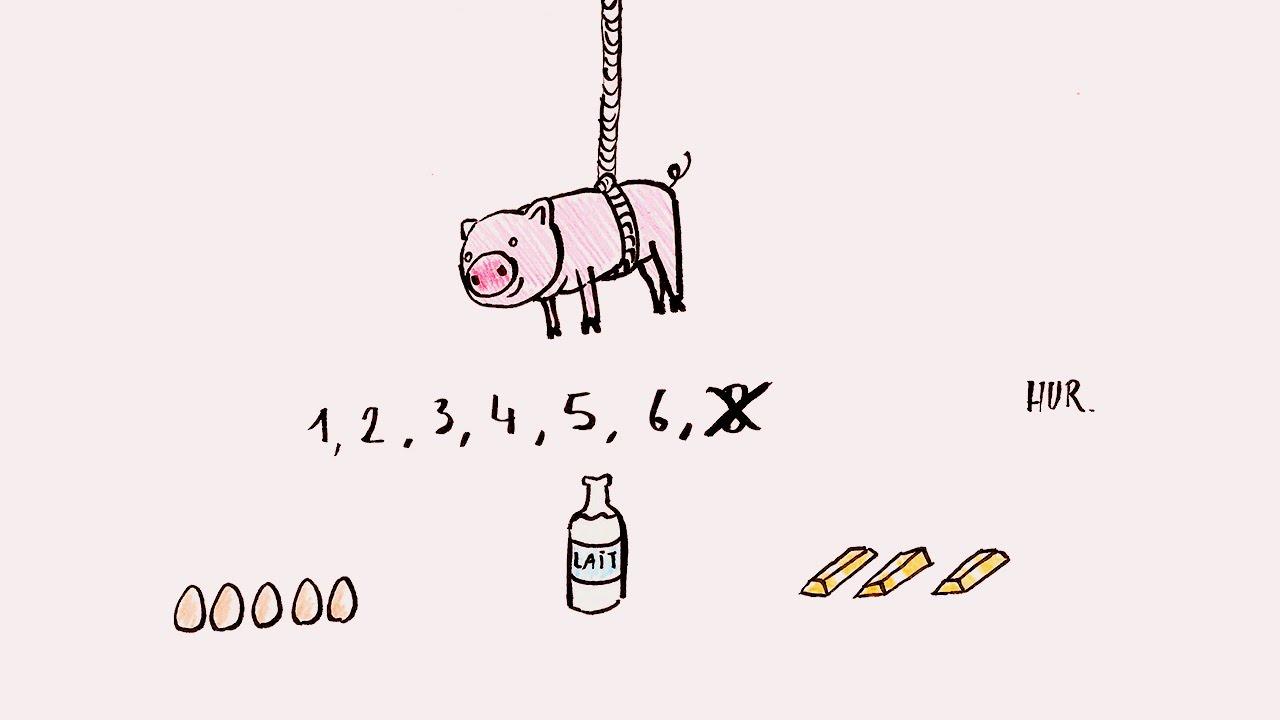 Un petit cochon pendu au plafond comptine youtube - Un petit cochon pendu au plafond ...