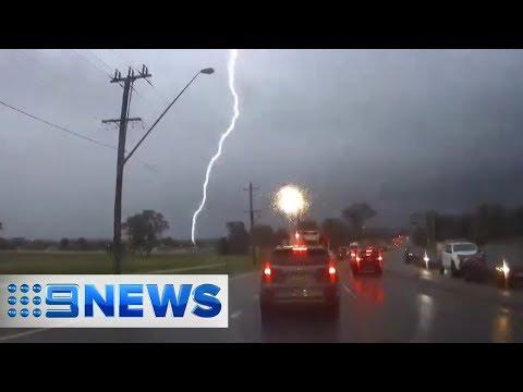 Sydney set to receive more storms after lightning show | Nine News Australia 2018