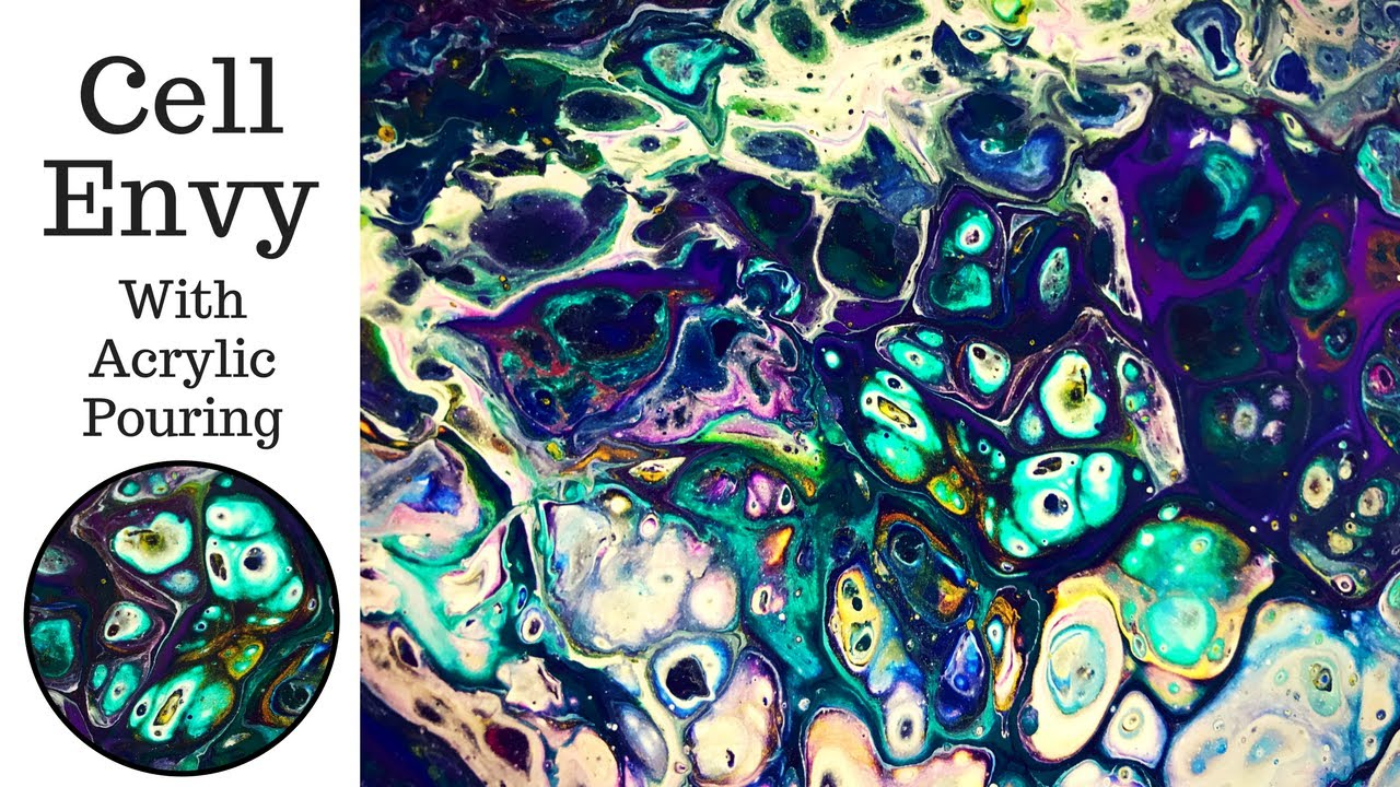 Get big cells with acrylic pouring silicone youtube for Paint n pour