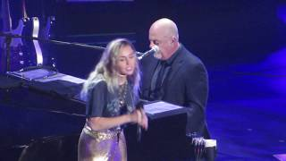 Billy Joel & Miley Cyrus singing New York State of Mind at Madison Square Garden 9/30/17