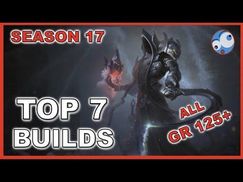 Top 7 Best Builds Season 17 Diablo 3 All GR 125 plus (so far) Patch