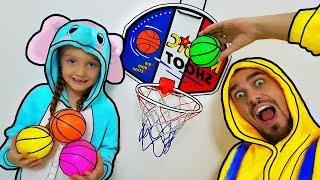 Aprende colores con bolas basketbool - bebé rimas canción dedo canciones familiares para los niños