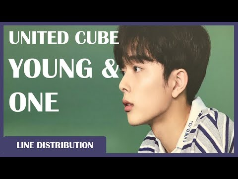 UNITED CUBE - Young And One: Line Distribution (Color Coded)