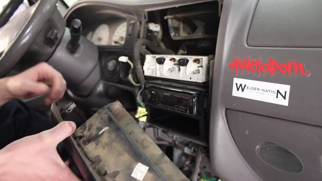 2001 2004 Toyota Tacoma How To Center Dash Removal Youtube