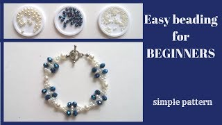 💠 How to make a bracelet at home. Learn beading -easy -fast-free💠