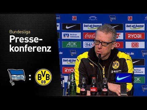 Die Pressekonferenz nach dem Auswärtsspiel in Berlin | Hertha BSC - BVB 1:1
