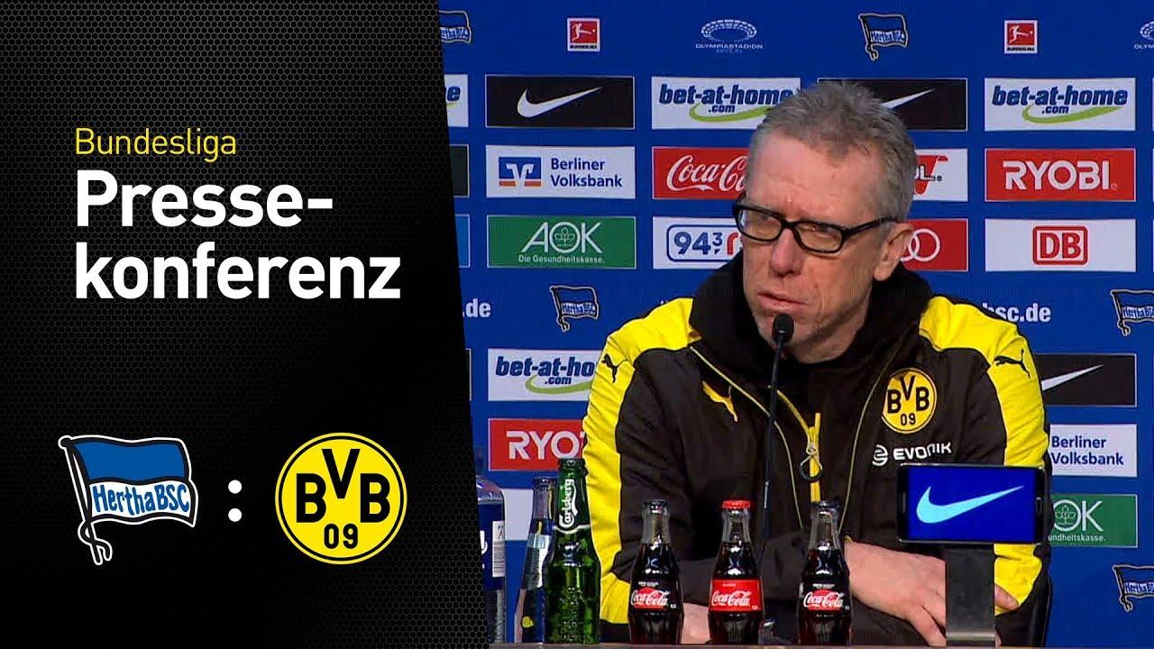 """""""Das erwartet schwere Spiel"""" - Pressekonferenz mit Peter Stöger   Hertha BSC - BVB 1:1"""