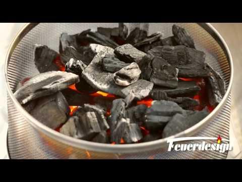Feuerdesign® Vesuvio Holzkohle-Tischgrill