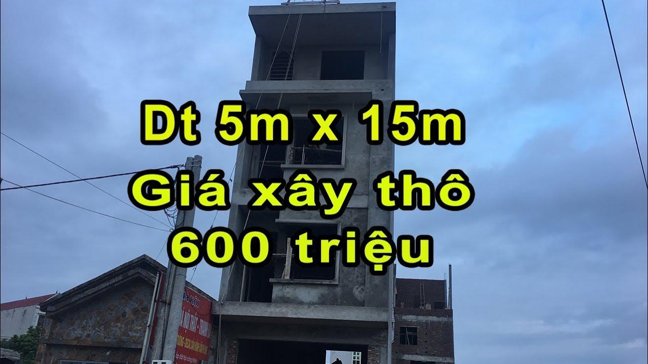 MẪU NHÀ ỐNG 4 TẦNG DT 5M X 75M GIÁ XÂY THÔ 600 TRIỆU