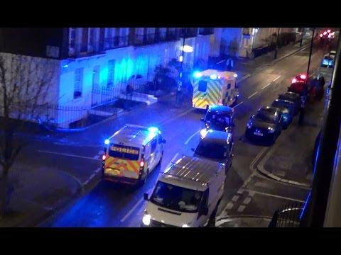 London Ambulance Service ambulance & British Transport Police Vauxhall responding [UK | 14.4.2016]