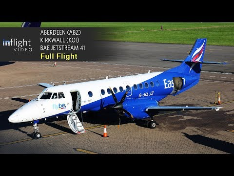 Eastern Airways/Flybe Full Flight: Aberdeen to Kirkwall, Orkney - BAe Jetstream 41 (with ATC)