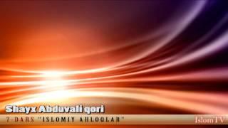7 Dars Islomiy Axloqlar