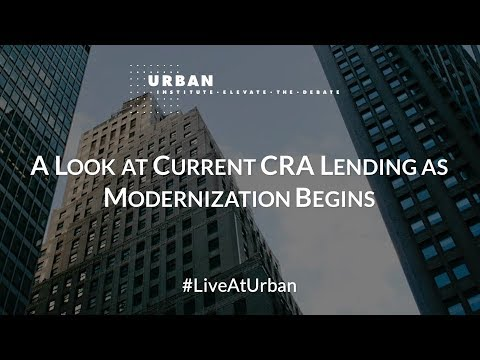 A Look at Current CRA Lending as Modernization Begins