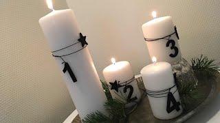 Adwentowy stroik cztery białe świece  2017 Boże Narodzenie