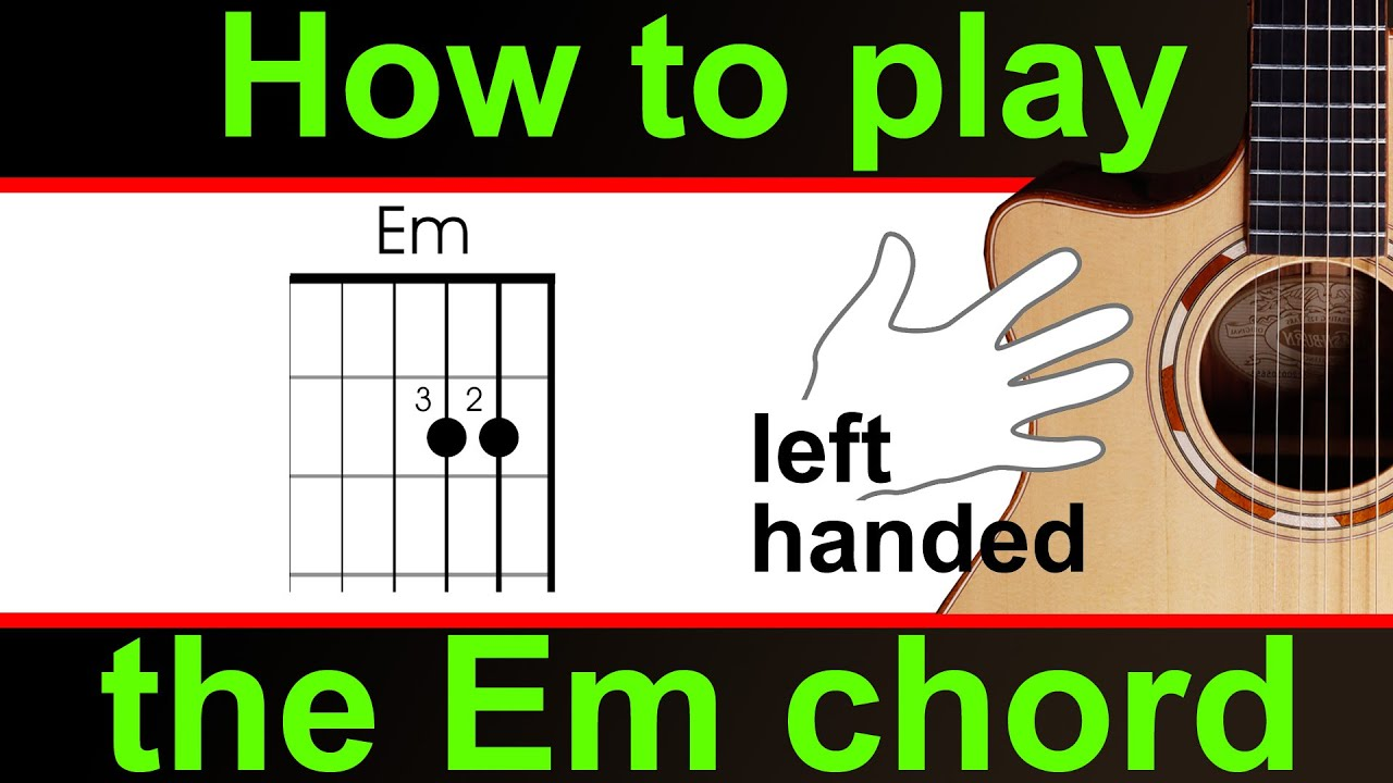 left handed how to play the 39 e 39 minor guitar chord em youtube. Black Bedroom Furniture Sets. Home Design Ideas