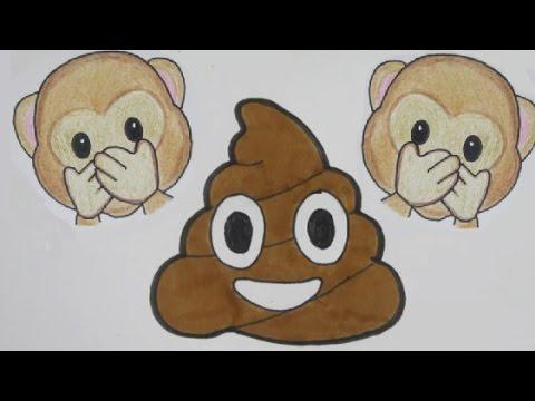 Aap Amp Poep Emoji Leren Tekenen In Stappen Youtube