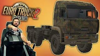 Покупаем Камаз 43-63-65 off-road и отправляемся в рейс Euro Truck Simulator 2 + Fanatec CSL Elite