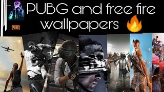 PUBG & FREE FIRE Wallpapers mobile & pc Download it now!!