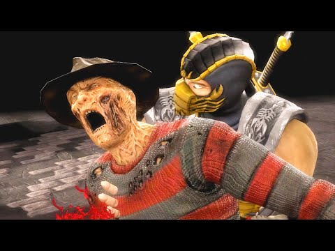 Mortal Kombat IX Scorpion (Costume 2) Performs All Character Fatalities PC 60FPS 1080p