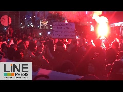 Affaire Théo. Heurts entre police et manifestants / Paris - France 15 février 2017