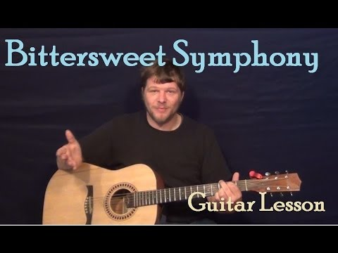 Bittersweet Symphony (The Verve) Easy Strum Guitar Lesson How to Play Tutorial